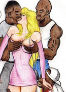 Big juggs white toon stunners enjoying hardcore interracial sex action with black dudes.