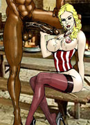Xxx interracial toon pics of blonde chicks pleasing enormous black dicks.